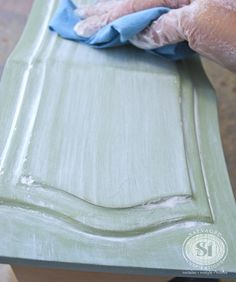 How to paint a color wash with chalk paint