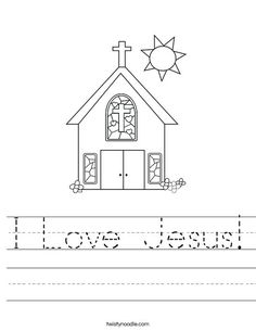 I Love Jesus Worksheet from TwistyNoodle.com