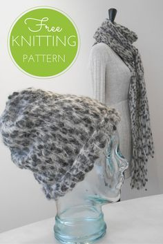 Easy Knitting! Safari Hat & Scarf Free Knitting Pattern