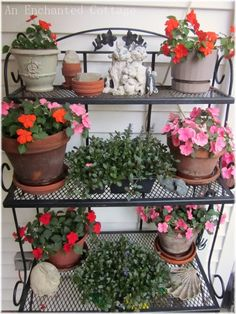 Iron Folding Patio Bakers Rack | Classic Iron Shelves | Pinterest | Bakers  Rack, Patio And Irons
