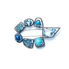 Joanna Gollberg, Seven Prong-Set Gemstone Brooch – Mora Designer Jewelry