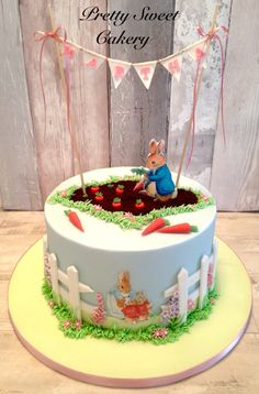 Peter Rabbit Cake CakePeter PartyPeter BirthdayBirthday CakesBirthday IdeasBunny - Food Ideas For Peter Rabbit Party Food Ideas For Peter Rabbit Party Peter Rabbit Party, Peter Rabbit Cake, Peter Rabbit Birthday, Baby Boy Birthday Cake, 3rd Birthday Cakes, Birthday Ideas, Beatrix Potter Cake, Peter Rabbit And Friends, Bunny Party