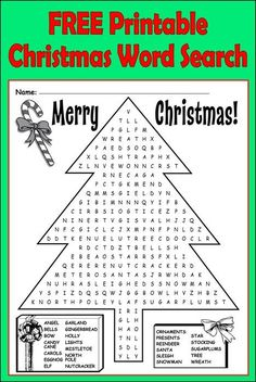This fun Christmas word search contains 25 Christmas themed words! Can you find them all? Christmas Worksheets, Christmas Activities For Kids, Free Christmas Printables, Christmas Games, Kids Christmas, Free Printables, Christmas Crafts, Christmas Word Search Printable, Christmas Crossword