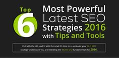 Top 6 Most Powerful Latest SEO Strategies 2016 [Infographic]
