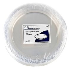 """9"""" Clear Plastic Disposable Plates 40 Ct by Blue Sky Trading. $9.80. Clear 9"""" Plastic Plates - 40 Count Make your special event a success! These clear plastic plates will complement all your event decorations. Clear is the perfect addition to your party. A fun and easy way to add style to your event, this package contains 40 Clear 9"""" Plastic Plates."""