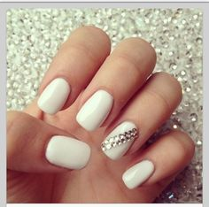 I'm getting white nails this weekend and this is one of my choices, I LOVE white nails SO MUCH
