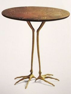 Meret Oppenheim - Table With Bird Legs, 1936.