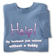 Dear God, Hes Home! T-shirt.  Come join my Monday Morning blog and read part 2 of the struggles and joys of having a stay-at-home man!