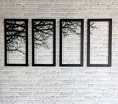 Tree branch framed wall decor laser cutting metal wall art home bed room decor