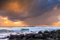 Burleigh Heads in Gold Coast, Australia.