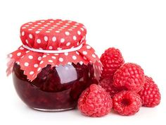 Raspberry jam and fresh berries isolated on white Poster Home Canning, Raspberry, Berries, Fresh, Desserts, Food, Youtube, Poster, Products