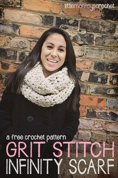 This free crochet pattern is part of a series of 5 beginner-friendly scarves & cowls that can be made for $10 or less. All you need is a few skeins of Lion Brand Hometown USA ($2.99/skein at Walmart) and aP (11.5mm)hook! You should also know how to attach a new skein of yarn in the middle of a
