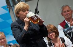 This photo shows the Russian Chancellor Angela Merkel celebrating her birthday.