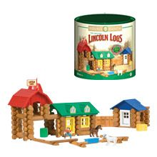 Lincoln logs are wonderful for building houses and forts.
