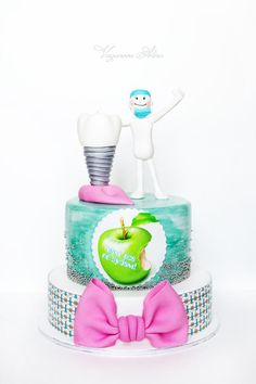 cake for dental orthopaedist Implantologist - Cake by Alina Vaganova