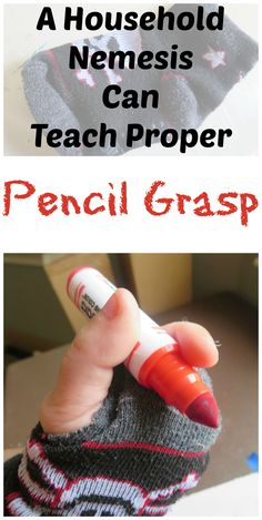 Turn a common household nemesis into something useful! Simple Household Item that Develops a Better Pencil Grasp #SPD