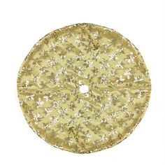 "20"" Decorative Gold Sequin Snowflake Pattern Mini Christmas Tree Skirt"