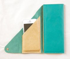 Leather Wrap Wallet in Jade Green--Love this!!