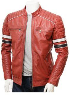 e211e00e54b Arrow Men Red Leather Biker Jacket - 2345t67