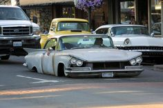 Love the angry front on these 59 Buick's