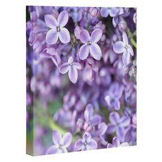Lisa Argyropoulos Dreamy Lilacs Art Canvas | DENY Designs Home Accessories