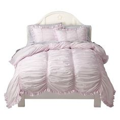 Lola is ready for a Big Girl Bed.  Target : Simply Shabby Chic® Smocked Duvet Cover Set - Pink : Image Zoom