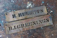 Roxbury Russets or Rhode Island Greenings / antique packing crate stencils / tippleandsnack