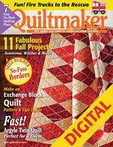 Quiltmaker September/October 2009 Digital Issue - love this argyle quilt!