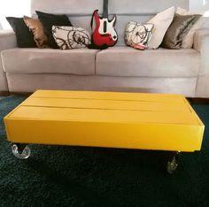Galeria do Leitor - DIY (Do it yourself - Faça você mesmo) Mesa de caixote com rodizios.
