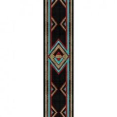 native american beading patterns | Native American Inspired - beading cuff bracelet pattern loom HOLIDAY ...