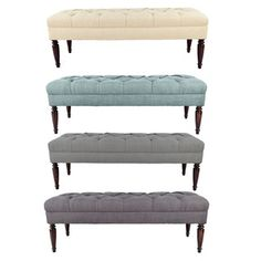 MJL Furniture Claudia Diamond Tuft Upholstered Long Bench - Free Shipping Today - Overstock.com - 17678025 - Mobile