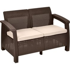 The perfect addition to your patio seating group, this versatile loveseat showcases a wicker-inspired design for alfresco style.  Pr...