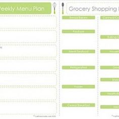 menu plan and shopping list...i really should use this