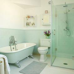 Pretty period bathroom | Bathroom makeover | bath | shower | Makeover | Ideal Home | Housetohome
