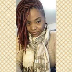 Red locs, faux locs Goddess Hairstyles, Shaved Hairstyles, Natural Hairstyles, Braided Hairstyles, Protective Style Braids, Protective Styles, Twists, Braids With Shaved Sides, Goddess Locs