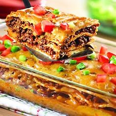 Mexican Lasagna....made this for years... We love it