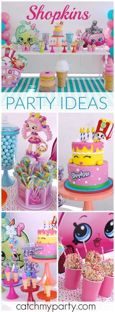 Here's a stylish Shopkins birthday party with a mini fashion show! See more party ideas at Catchmyparty.com!