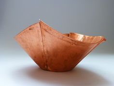 Foldformed copper vessel. Rolled fold, satin finish to the surfaces.  https://www.facebook.com/emmarulemetals?ref=hl