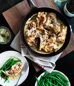 Australian Gourmet Traveller WINE recipe for lapin à la moutarde (rabbit with mustard.)