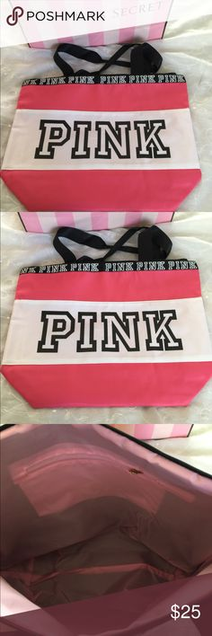 VS PINK TOTE BAGS FASHION PINK LETTER HANDBAGS VS SHOULDER BAGS WATERPROOF SHOPPING BAG PINK Victoria's Secret Bags Totes