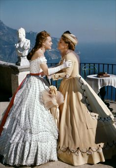 Sissi with her Mom (in the movie and in real life). How many times did I act this exact scene as a child, playing in the big crinolines my Mom made and purchased for me as costumes? My passion for crinolines never failed...