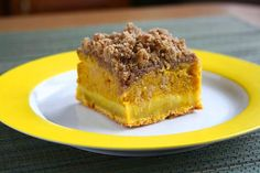 collecting memories: Pumpkin Custard Cake with Brown Butter Crumb Topping