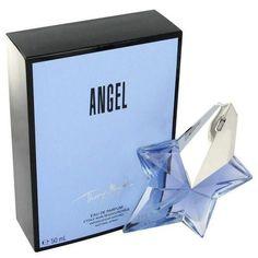 ANGEL by Thierry Mugler Eau De Parfum Spray Refillable + Free .2 oz Eau De Parfum Travel Spray with Magnetic Closing Travel Case 3.4 oz (Women)