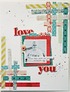 scrapbook page with LOTS of wash tape!!!