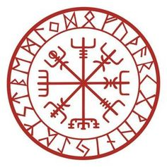 Viking Schutz Runen Vegvisir Kompass Talisman schwarzen Vinyl-Aufkleber This rune is known as Vegvis Viking Symbols, Viking Art, Viking Protection Rune, Protection Tattoo, Protection Symbols, Arielle Tattoo, Les Runes, Symbole Viking, Norse Tattoo