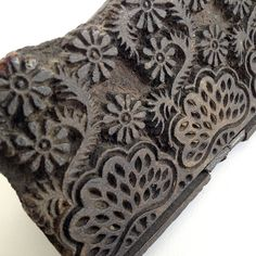 Wooden vintage hand carved printing block by vintagecuriosityshop