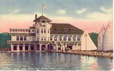 Belle Isle. Detroit Yacht Club postcard.