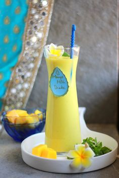 : Mango And Mint Milk Shake