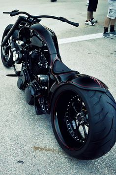 custom motorcycle in black