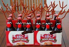 detalles navideños: cerveza renos